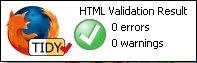 Result of Tidy HTML validation